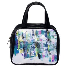 Background Color Circle Pattern Classic Handbags (One Side)