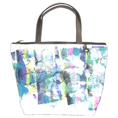Background Color Circle Pattern Bucket Bags
