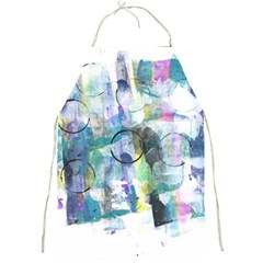 Background Color Circle Pattern Full Print Aprons