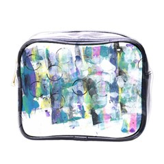 Background Color Circle Pattern Mini Toiletries Bags