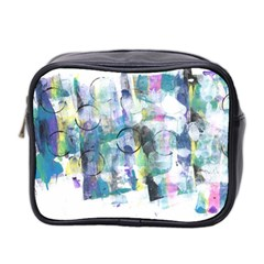 Background Color Circle Pattern Mini Toiletries Bag 2-Side