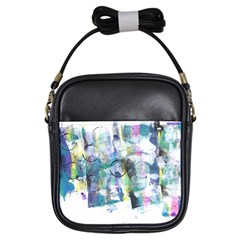 Background Color Circle Pattern Girls Sling Bags