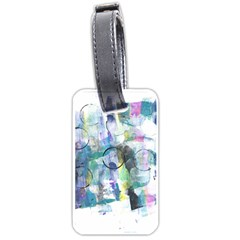 Background Color Circle Pattern Luggage Tags (two Sides)