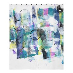 Background Color Circle Pattern Shower Curtain 60  X 72  (medium)