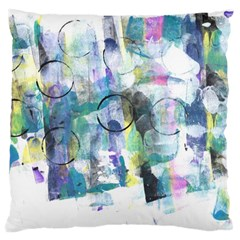 Background Color Circle Pattern Large Cushion Case (two Sides)