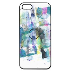 Background Color Circle Pattern Apple iPhone 5 Seamless Case (Black)