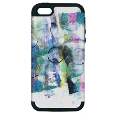 Background Color Circle Pattern Apple Iphone 5 Hardshell Case (pc+silicone)