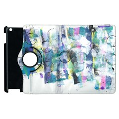 Background Color Circle Pattern Apple Ipad 2 Flip 360 Case