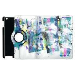 Background Color Circle Pattern Apple Ipad 3/4 Flip 360 Case