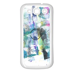 Background Color Circle Pattern Samsung Galaxy S3 Back Case (White)