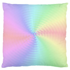 Dilute Rainbow Vortex Bg Large Flano Cushion Case (Two Sides)