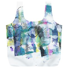 Background Color Circle Pattern Full Print Recycle Bags (l)