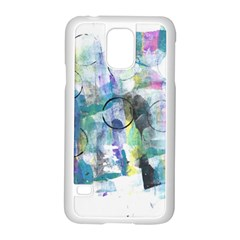 Background Color Circle Pattern Samsung Galaxy S5 Case (white)