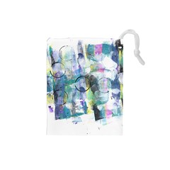 Background Color Circle Pattern Drawstring Pouches (small)