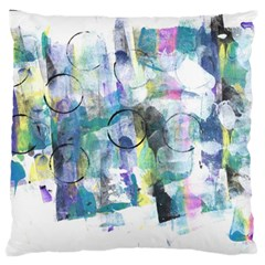 Background Color Circle Pattern Large Flano Cushion Case (one Side)