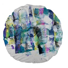 Background Color Circle Pattern Large 18  Premium Flano Round Cushions