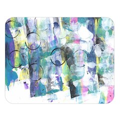 Background Color Circle Pattern Double Sided Flano Blanket (large)