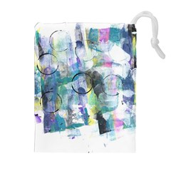Background Color Circle Pattern Drawstring Pouches (extra Large)