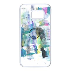 Background Color Circle Pattern Samsung Galaxy S7 White Seamless Case
