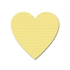 Pattern Yellow Heart Heart Pattern Heart Magnet