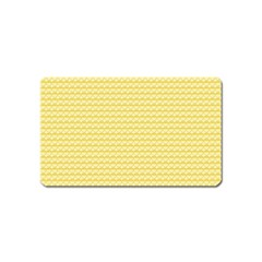 Pattern Yellow Heart Heart Pattern Magnet (Name Card)