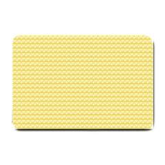 Pattern Yellow Heart Heart Pattern Small Doormat