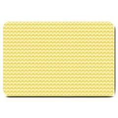Pattern Yellow Heart Heart Pattern Large Doormat