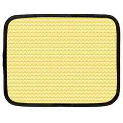 Pattern Yellow Heart Heart Pattern Netbook Case (Large)