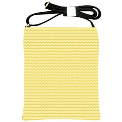 Pattern Yellow Heart Heart Pattern Shoulder Sling Bags