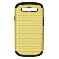 Pattern Yellow Heart Heart Pattern Samsung Galaxy S III Hardshell Case (PC+Silicone)