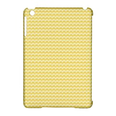 Pattern Yellow Heart Heart Pattern Apple Ipad Mini Hardshell Case (compatible With Smart Cover)