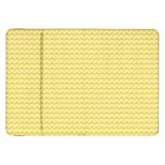 Pattern Yellow Heart Heart Pattern Samsung Galaxy Tab 8.9  P7300 Flip Case