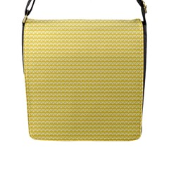 Pattern Yellow Heart Heart Pattern Flap Messenger Bag (l)