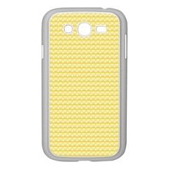 Pattern Yellow Heart Heart Pattern Samsung Galaxy Grand DUOS I9082 Case (White)