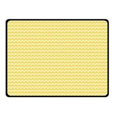 Pattern Yellow Heart Heart Pattern Double Sided Fleece Blanket (small)