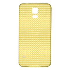 Pattern Yellow Heart Heart Pattern Samsung Galaxy S5 Back Case (White)