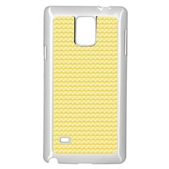 Pattern Yellow Heart Heart Pattern Samsung Galaxy Note 4 Case (white)