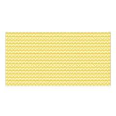 Pattern Yellow Heart Heart Pattern Satin Shawl