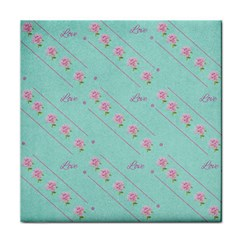 Flower Pink Love Background Texture Tile Coasters