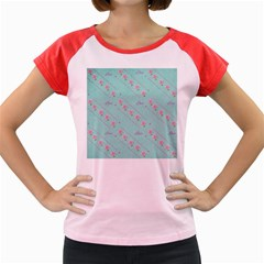 Flower Pink Love Background Texture Women s Cap Sleeve T Shirt
