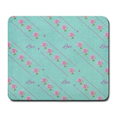 Flower Pink Love Background Texture Large Mousepads