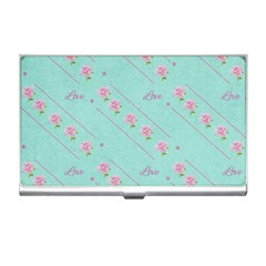 Flower Pink Love Background Texture Business Card Holders