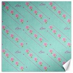 Flower Pink Love Background Texture Canvas 12  x 12