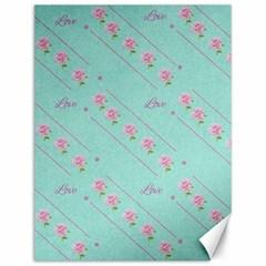 Flower Pink Love Background Texture Canvas 12  x 16