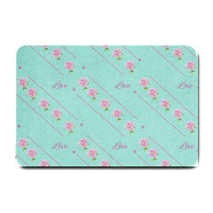 Flower Pink Love Background Texture Small Doormat