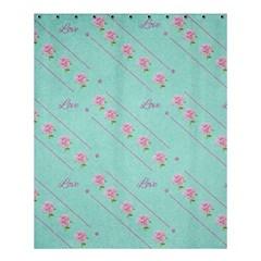 Flower Pink Love Background Texture Shower Curtain 60  X 72  (medium)