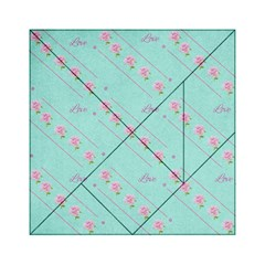Flower Pink Love Background Texture Acrylic Tangram Puzzle (6  x 6 )