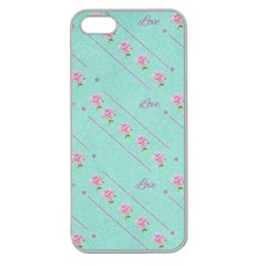 Flower Pink Love Background Texture Apple Seamless iPhone 5 Case (Clear)