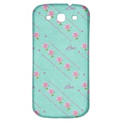 Flower Pink Love Background Texture Samsung Galaxy S3 S III Classic Hardshell Back Case
