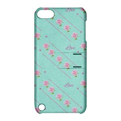 Flower Pink Love Background Texture Apple Ipod Touch 5 Hardshell Case With Stand